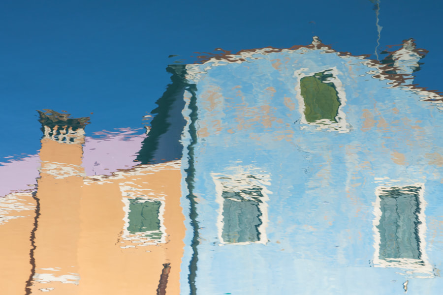 Canal reflection, Burano