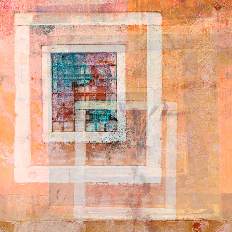 Abstract, multiple exposure images, windows, Venice